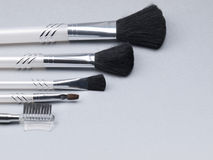 Set of make-up brushes Stock Images