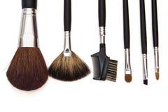 Set of make-up brushes Royalty Free Stock Image