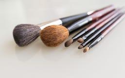 Set of make up brushes Stock Photography
