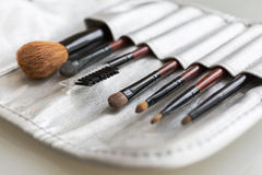 Set of make up brushes Royalty Free Stock Photography