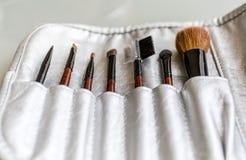 Set of make up brushes Royalty Free Stock Photos