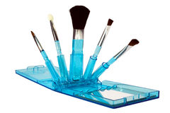 Set of makeup brushes Royalty Free Stock Image