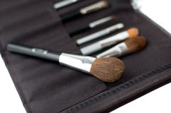 A set of makeup brushes Stock Image