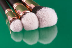 Set of makeup brushes Stock Photo