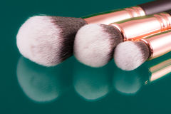 Set of makeup brushes Stock Image