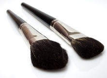 Set of makeup brushes isolated Royalty Free Stock Photography