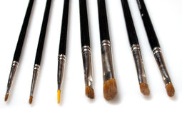 Set of makeup brushes isolated Royalty Free Stock Images