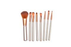 Set of makeup brushes isolated on white background. Cosmetic Stock Photos