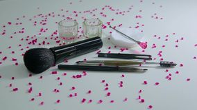 Brush set for make-up stock video footage