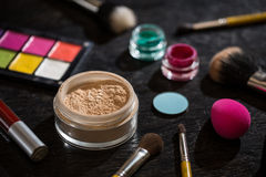 Set of makeup cosmetics Stock Images