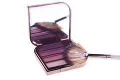 A set of makeup, eye shadow brush Stock Images