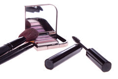 A set of makeup, eye shadow brush Stock Photo