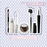 Set of makeup for the eyes. sticker Royalty Free Stock Photos