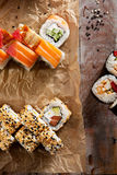 Set of Maki Sushi Royalty Free Stock Photos