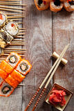 Set of Maki Sushi Royalty Free Stock Image