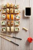 Set of Maki Sushi Stock Photo