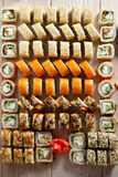 Set of Maki Sushi royalty free stock photo