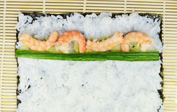 Set for making maki sushi Royalty Free Stock Photos