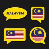 Malaysia flag in dialogue bubble Royalty Free Stock Image
