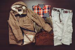Set of male apparel Royalty Free Stock Images