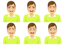 set of male avatar expressions Stock Images
