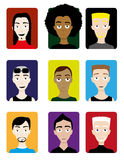 Set of Male Avatars Stock Photos