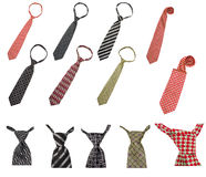 Set of male business ties isolated Royalty Free Stock Image