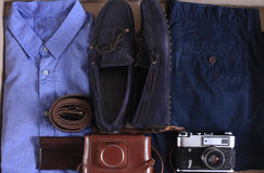 Set of male casual clothing Royalty Free Stock Photos