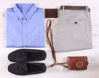 Set of male casual clothing Stock Photo