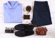 Set of male casual clothing Royalty Free Stock Photo