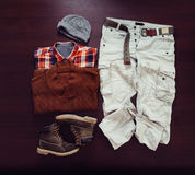 Set of male clothing Royalty Free Stock Photos