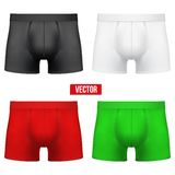 Set Male of different colors underpants briefs. Stock Images