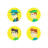 Set of male faces Royalty Free Stock Photos