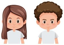 Set of male and female hairstyle. Illustration vector illustration