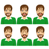 set of male hipster avatar expressions Stock Photography