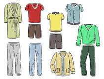 Male household clothing Royalty Free Stock Images