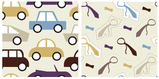 Set of male seamless patterns Royalty Free Stock Image