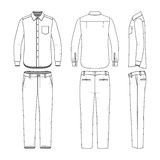 Set of male shirt and pants. Royalty Free Stock Photo