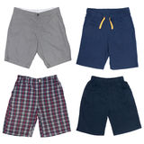 Set of male shorts. Isolated on white Stock Images