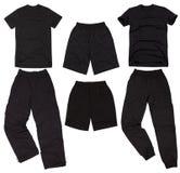 Set of male sportswear. Isolated on white background. Stock Image