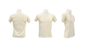 Set of male tshirt template on the mannequin. On white background (with clipping path Royalty Free Stock Photos