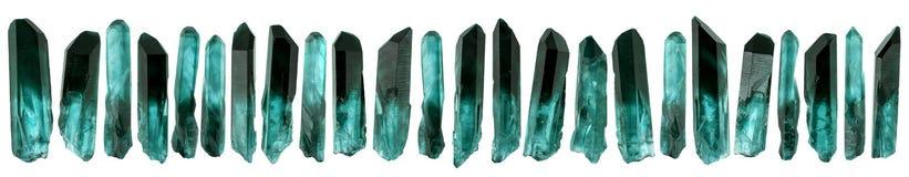 Set mali krystaliczni gemstones odizolowywający na bielu Obraz Royalty Free