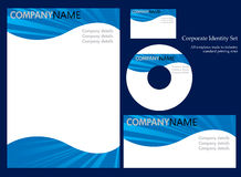 set mall för företags identitet 3 Arkivfoto