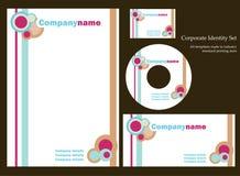 set mall för företags identitet 3 Royaltyfri Bild