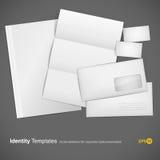 set mallar för företags identitet Arkivfoton