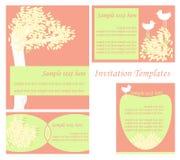 set mallar för inbjudan royaltyfri illustrationer