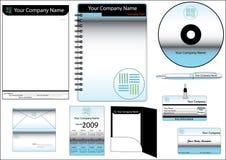 set mallvektor för företags identitet Arkivbild