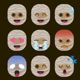 Set mamusi Emoticon majcher Odizolowywający royalty ilustracja