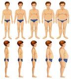 A Set of Man Body Transformation. Illustration Royalty Free Illustration