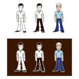Set of man characters Stock Image